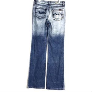 Seven7 for all Mankind Ombré Studded Flare Jeans
